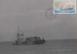 Carte  Photo  Maximum  1er  Jour   T.A.A.F    Chaland    LE  GROS  VENTRE    1983 - Terres Australes Et Antarctiques Françaises (TAAF)