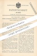 Original Patent - Carl Endruweit , Berlin , 1895 , Metallplatten Zur Elektrolytischen Herstellung Von Metallpapier !!! - Documenti Storici