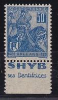 PUBLICITE: JEANNE D'ARC 50C BLEU SHYB-dentifrices B ACCP 646** - Advertising