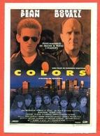CINEMA-CARTOLINA MANIFESTO FILM-COLORS-SEAN PENN-ROBERT DUVALL-MARIA CONCHITA-RANDY BROOKS - Manifesti Su Carta