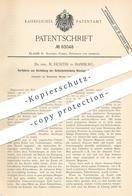 Original Patent - Dr. Phil. M. Richter , Hamburg , 1893 , Verhütung Der Selbstentzündung Flüssiger Kohlenwasserstoffe !! - Documenti Storici