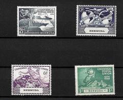 Bermuda 1949 KGVI UPU Anniversary Complete Set MNH (7231) - Bermuda