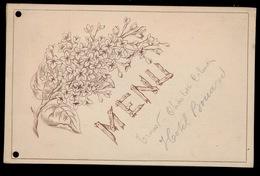 MENU 1898 HOTEL BOUARD GENT - ZIE 3 SCANS 15.5 X 9.5 CM - Menus