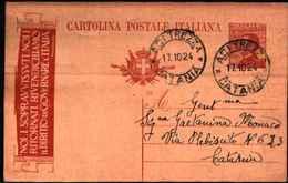 71223) INTERO POSTALE PROPAGANDA P.N.F. -DA ACITREZZA A CATANIA-17-10-1924 - Entiers Postaux