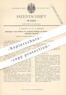 Original Patent - G. Fernau & Co. , Bruges , 1882 , Chemische Reinigung Von Gespinnstfaser   Faser , Garn , Wolle !!! - Documenti Storici