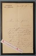 L.A.S 1885 Paul BERT Médecin & Politique - à Un Poète - Décès Belle Mère - Né à Auxerre Décédé Hanoi Lettre Autographe - Autographes