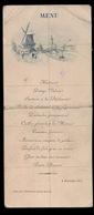 MENU 1897 ADEL NOBLESSE  - GENT ?? VICOMTESSE DE CLERQUE WISSOCQ DE SOUSBERGHE - 2 SCANS BESCHADIGD - Menus