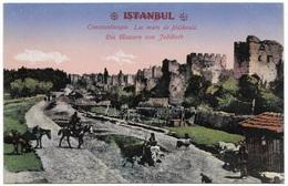 Constantinople Les Murs De Jedikoule Die Mauern Von Jedikule Istanbul - Unused C1915 - MJC - Turkey