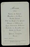 MENU 1896 LEDEBERG   14.5 X 9.5 CM  2 SCANS - Menus