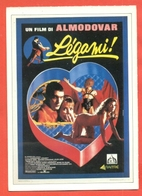 CINEMA-CARTOLINA MANIFESTO FILM-LEGAMI-VICTORIA ABRIL-ANTONIO BANDRAS-FRANCISCO RABAL - Manifesti Su Carta