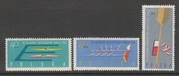 SERIE NEUVE DE POLOGNE - 6EMES CHAMPIONNATS D'EUROPE DE CANOË N° Y&T 1117 A 1119 - Canoë