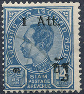 Stamp Siam Thailand 1905 Overprint Used Lot143 - Thaïlande