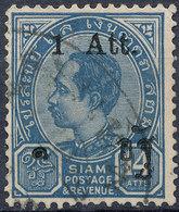 Stamp Siam Thailand 1905 Overprint Used Lot145 - Thaïlande