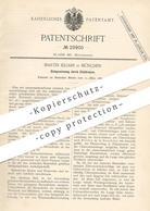 Original Patent - Martin Kiliani , München , 1884 , Zinkgewinnung Durch Elektrolyse   Zink   Rivière De La Souchère !!! - Documenti Storici
