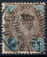 Stamp Siam Thailand 1905 Overprint Used Lot151 - Thaïlande