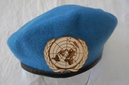 Béret Nations Unies ONU Casque Bleu 1997 - Headpieces, Headdresses