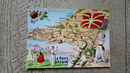 Le Pays Basque Eskual Herria Carte Elcé Drapeau Folklore - Cartes Géographiques