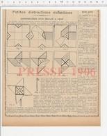Presse 1906 Construction Moulin à Vent Découpage Papier Montage 223CHV3 - Documentos Antiguos