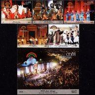 Jordan - 2018 - Jerash Festival Of Culture And Arts - Mint Stamp Set + Souvenir Sheet - Jordan