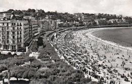 SAN SEBASTIAN -PASEO Y PLAYA DE LA CONCHA-REAL PHOTO- 1961 - Guipúzcoa (San Sebastián)