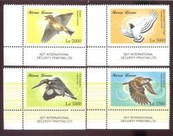 SIERRA LEONE ; SCOTT # 2961-4 ; IGPC 0918 CO ; MINT N H STAMPS ( BIRDS - Sierra Leone (1961-...)