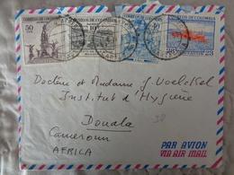 LETTRE DE COLOMBIE DE 1957 AVEC 4 TIMBRES DIFFERENTS - Colombie