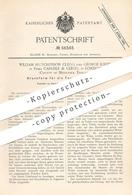 Original Patent - William Hutchinson Clegg , George Kirby , Carlisle & Clegg , London , England   Druckform Für Tapeten - Documenti Storici