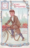 CPA Publicitaire Publicité Cacao Bensdorp Vélo Bicyclette Cycliste Cyclisme Cycling Radsport Illustrateur (2 Scans) - Publicidad