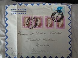 LETTRE DE L'IRAN DE 1957 AVEC 5 TIMBRES PAR AVION - Iran
