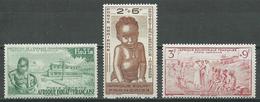 A.E.F. Poste Aérienne YT N°10/12 Protection De L'enfance Indigène Neuf/charnière * - A.E.F. (1936-1958)