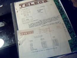 Factures TELECO RADIO Tsf Postes Radios.. A Paris Rue De Flandres Annee 1949 - Altri