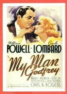 CINEMA-CARTOLINA MANIFESTO FILM-L'IMPAREGGIABILE GODFREY-WILLIAM POWELL-CAROLE LOMBARD-ALICE BRADY - Manifesti Su Carta