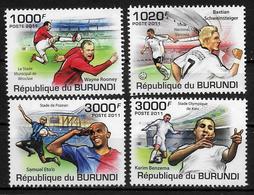BURUNDI  N° 1285/88  * *  ( Cote 18e )   Football  Soccer  Fussball - Unused Stamps