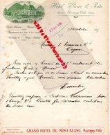 SUISSE - VALAIS- MARTIGNY VILLE- RARE LETTRE HOTEL KLUSER & POSTE-GRAND HOTEL DU MONT BLANC-1925 - Suisse