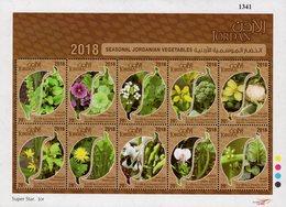 Jordan - 2018 - Seasonal Vegetables Of Jordan - Mint Souvenir Sheet - Jordan