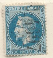 N°29 VARIETE  BULLE G.C.4697 PLOUGASTEL DAOULAS 28 INDICE 31. - 1863-1870 Napoleon III With Laurels