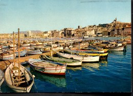 MARSEILLE Un Coin Du Port CPSM Ecrite En 1987 TBE - Autres