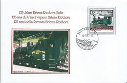 2017 Switzerland Cover 125 Jahre Brienz Rothorn Bahn - Treinen