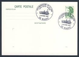 France Rep. Française 1988 Card / Karte / Carte - 120 Ann. Ligne Saint-Dizier - Wassy / Railway / Eisenbahn - Treinen
