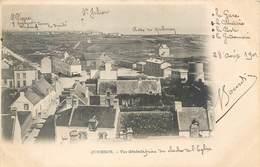 CPA 56 Morbihan Quiberon Vue Générale (prise Du Clocher De L'Eglise, Annotée Par L'expéditeur,originale) Précurseur 1901 - Quiberon