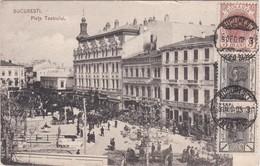 POSTCARD ROMANIA - BUCARESTI - PIATA TEATRULUI - Roumanie