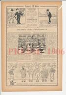Presse 1906 Partie D'échecs Jeu Chess Organisé Par Jay Gould Joueurs Charles Lindley Et Roser 223CH12 - Vieux Papiers