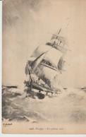CPA  - DIEPPE - EN PLEINE MER - 1407 - G. MARCHAND - - Segelboote