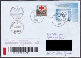 Serbia 2015 International Telecommunications Union ITU Tower Insured First Day Travel Letter Rad Cross Tax Charity - Serbie