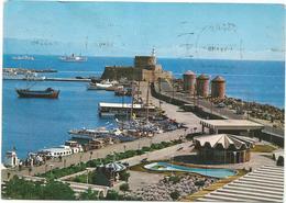 V3281 Rodos Rhodes Rodi Rhodos - View Of The Port - Panorama Del Porto / Viaggiata 1982 - Grecia