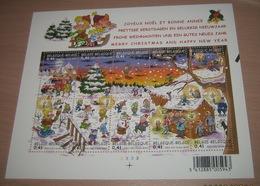 Bloc 98** OBP 3101 - 3110 Kerstmis En Nieuwjaar (Doorlopers) Blok 98** MNH Bande-Dessinés MNH (2002)  Pl 3 - Blocs 1962-....