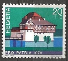 1978 Pro Patria Castles, 20+10, Light Hinged - Switzerland