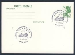 France Rep. Française 1988 Card / Karte / Carte - Cent.ann. De Inaug. Chemin De Fer De La Mure / Railway / Eisenbahn - Treinen