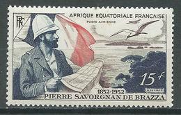 A.E.F. Poste Aérienne YT N°55 Pierre Savorgnan De Brazza Neuf/charnière * - A.E.F. (1936-1958)