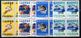 ETP49 - ETIOPIA 1974 , Yvert Serie In Quartina Yvert N 717/720  ***  MNH  UPU - Etiopia